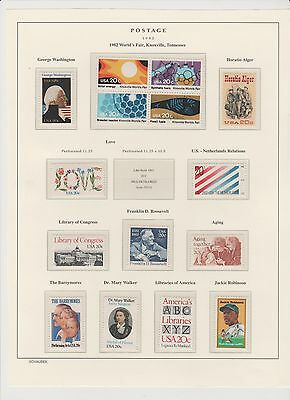 U.S. 1982 Commemorative Year Set, 30 stamps (2 scans) Complete, mNH Fine