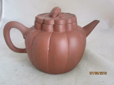 19Th Century Chinese Yixing Teapot With Beast As Finial