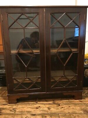 Antique Victorian Astagral Mahogany Bookcase Well Proportioned Good Condition