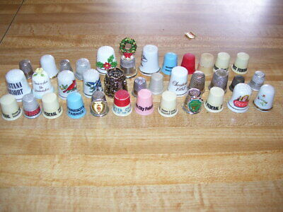 Lot #1 Sewing Thimble Collection Watkins, MN, ND, Advertising
