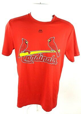 ecb6537ed MAJESTIC St Louis Cardinals Mens Sz S Evolution Tee Shirt Cool Base Red  25
