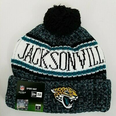 ea7a8f1c8bc7bc NFL NEW ERA Jacksonville Jaguars On Field SPORT KNIT Cap Beanie with Pom NEW
