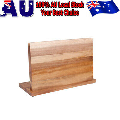 Bamboo Magnetic Knife Storage Cutlery Holder Stand Rack Block Kitchen Bar Tool