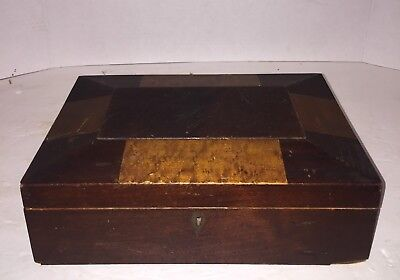 ANTIQUE DOCUMENT BOX OLD Burl Birdseye Maple EARLY 1800'S Shaker