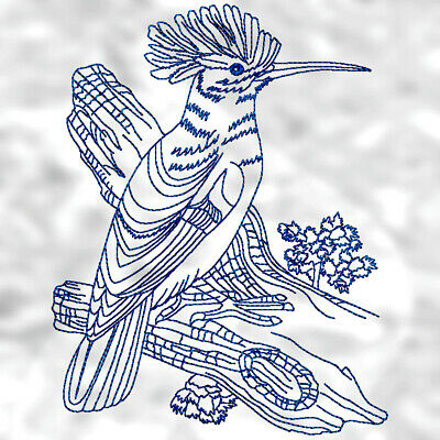 Fancy birds linework 10 MACHINE EMBROIDERY DESIGNS CD or USB