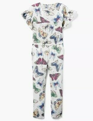 b14aae10a540 NWT GYMBOREE Beautiful BUTTERFLY Pants ROMPER Outfit Girls SIZE M 7 8