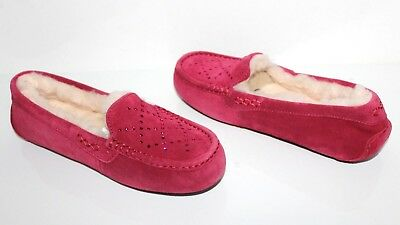 1ba4d8110e2 UGG ANSLEY CRYSTAL Diamond Moccasin Slippers Freshwater Pearl Size ...