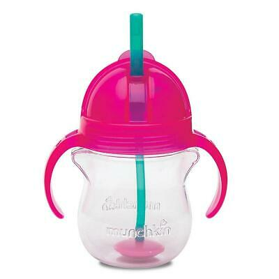Munchkin Click-Lock 7oz Weighted Straw Cup 1pk, Pink