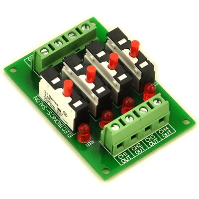 Panel Mount Independent 4 Channels Thermal Circuit Breaker Module.