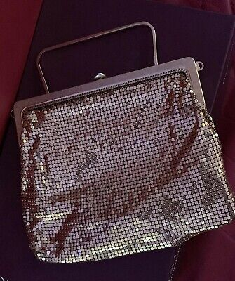 Vintage..Gold Glomesh Evening Bag - Park Lane 1960's ..