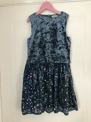 Beautiful Girls Next Sequin Teal Dress Age 8 Christmas Wedding Party