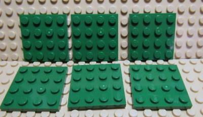 LEGO Parts~3031 6 Flat Plate 4 x 4 ~REDDISH BROWN~ Harry Potter EXC