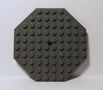 #89523 LEGO x15 Dark Mix Color Plate 10x10 Octagonal with Hole and Snapstud
