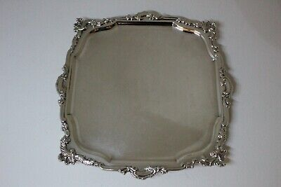 A Silver Plated Calling Card Tray By Mappin & Webb