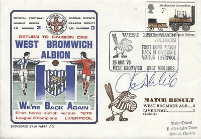 Dawn Football Cover 1976 West Bromwich Albion SIGNED JOHN WILE S0603