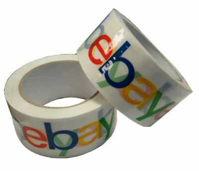 2 ROLLS 4-Colour eBay Branded Extra-Strong Parcel Packing Packaging Tape UK Fast