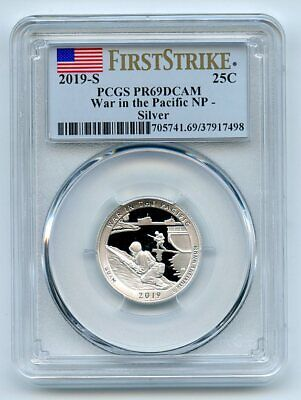 2019 S 25C Silver War In the Pacific Quarter PCGS PR69DCAM First Strike