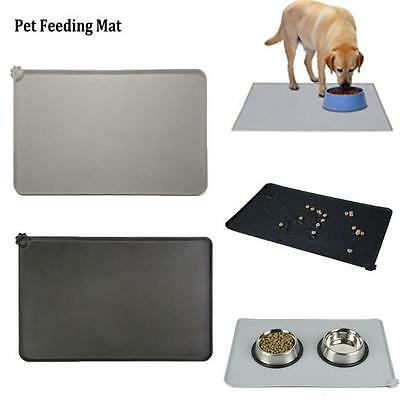Silicone Puppy Dog Placemat Pet Cat Dish Bowl Feeding Food Water Mat Clean FG