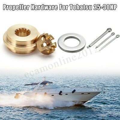 Propeller Hardware Kits Thrust Washer/Nut/Cotton Pin For Tohatsu Nissan 9.9-20HP