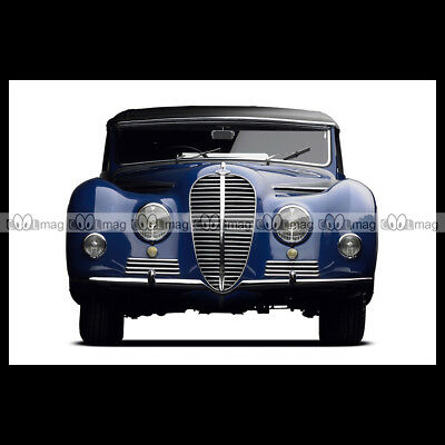 #pha.004296 Photo DELAHAYE 135 MS CABRIOLET (CHAPRON) 1949 Car Auto