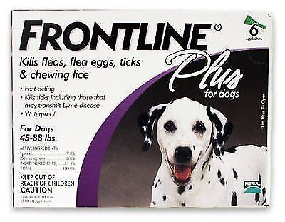 Frontline Flea And Tick Control For Dogs, 45 To 88 Lbs, 3-Doses