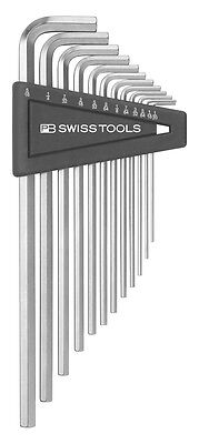 PB Swiss Tools PB 214Z.H-12 Hex Key Set Inch Long 1/20-5/16 12-Piece