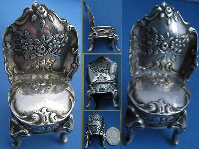 A Gorgeous Minature Silver Upholstered Regency Period Chair Hallmark London 1900