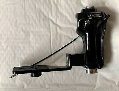 Vintage Vivitar PG-1 Flash Grip, Bracket for 6x 6 Camera, and Cable Release