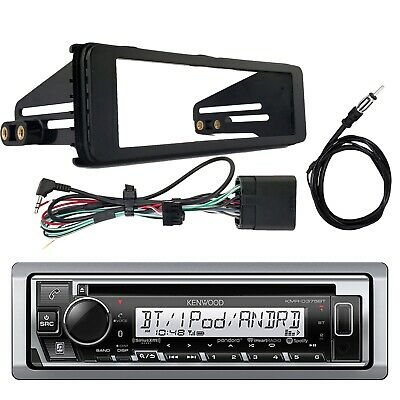 Kenwood KMR-D375BT Bluetooth Receiver, Stereo Installation Kit, Radio Antenna