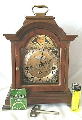 Warmink Mantel Clock Westminster Quarter Chime Moonphase 8 Day Silent Option