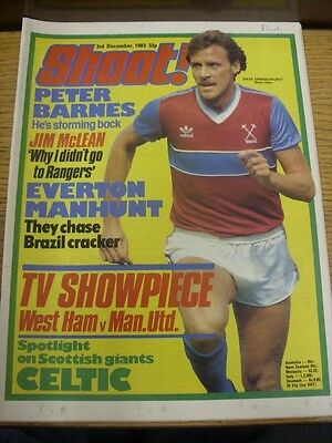 03/12/1983 Shoot Magazine: Content To Include, Celtic And Huddersfield Town Team