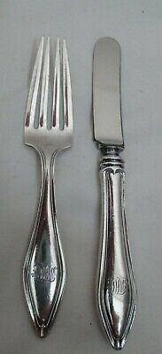 Towle Sterling Silver Mary Chilton 2 pc Baby Child Fork & Knife