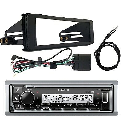 Kenwood KMRM325BT Bluetooth Receiver, Stereo Installation Kit, Radio Antenna