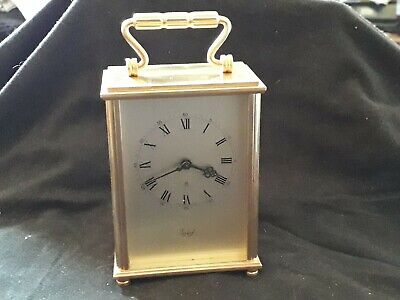 Vintage Swiss Made Imhof 8 Day Carriage Clock Working