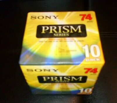 Sony Prism Series Series 10 Pack Mini Disc 74 Min New Sealed Recordable Minidisc