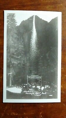 RPPC - Firefall, Yosemite National Park, California - Camp Curry