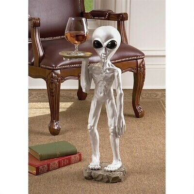 UFO Extra Terrestrial Roswell Alien Other Worldly Pedestal Sculptural Table