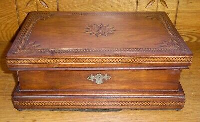 Antique Inlaid Wood Box - Some Issues