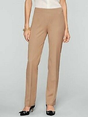 CLEARANCE! ~ NEW $89 TALBOTS Heritage Fit Side Zip Brown Bi-Stretch Pants Sz 10
