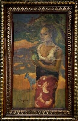 Antique Gauguin signed French? oil /canvas painting!