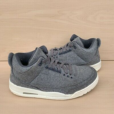 "reputable site 2273d 52c43 2016 Air Jordan Retro3 III ""Wool Dark Grey Sail Cement Shoes Size 10"