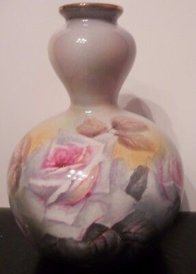 ROYAL BONN antique old Fine Art POTTERY / PORCELAIN Ceramic VASE Painting Roses