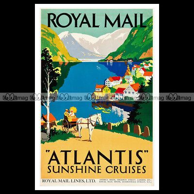 #phpb.001149 Photo ROYAL MAIL LINE 1935 ATLANTIS, SUNSHINE CRUISES 2 A4 reprint