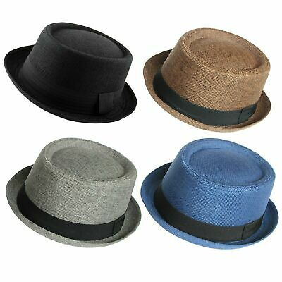 Men's Heisenberg Breaking Bad Pork Pie Classic Textured Hat Cap Straw Porkpie