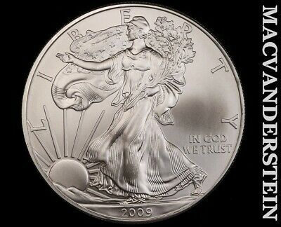 2009 American Silver Eagle 1 Ounce-Ch Gem Brilliant Unc!! No Reserve!! #f3445