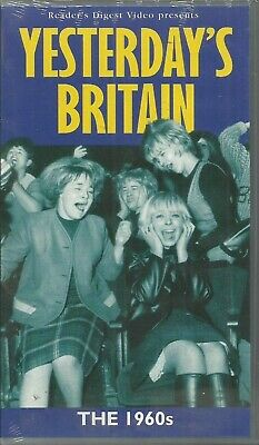 YESTERDAY'S BRITAIN ~ THE 1960's ~ NEW STILL SEALED PAL REGION VHS 99p