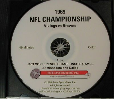 1969 NFL Title Game, Vikings-Browns, plus both Conference Championships on DVD!