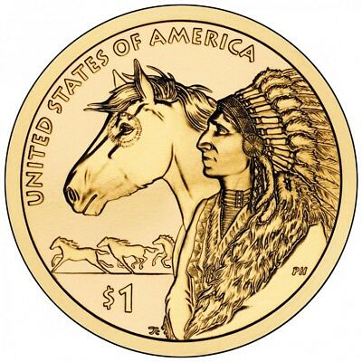 NATIVE AMERICAN Sacagawea SPACE$1 US MINT  ONE Coin Ship TODAY!! 2019 DENVER
