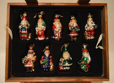 Pacconi 2002 Around The World International Santa Glass Christmas 18 Ornaments