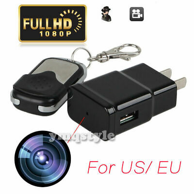 HD 1080P Spy Hidden Camera USB Wall Charger Adapter Video Recorder Security CamH